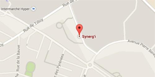 Plan des bureaux de Synerg'i à Beauvais, gestion de patrimoine dans le nord